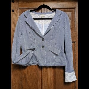 Daytrip blazer with lace detailing NWOT
